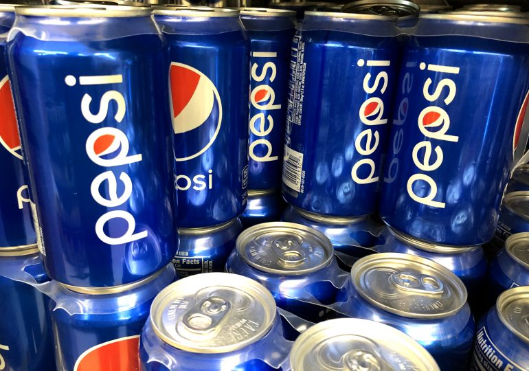 Pepsi says revenue jumped 8.8%, sees 2021 results meeting long-term targets