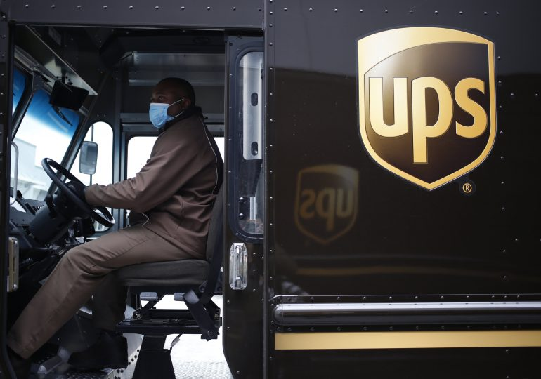 UPS shares jump on strong fourth-quarter earnings as Covid drives online shopping