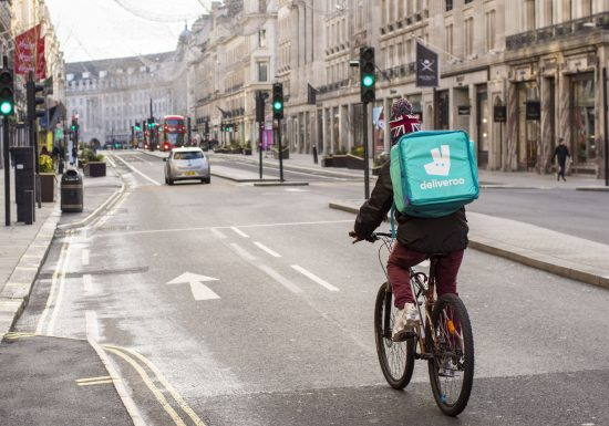 Amazon-backed food delivery firm Deliveroo picks London for its blockbuster debut