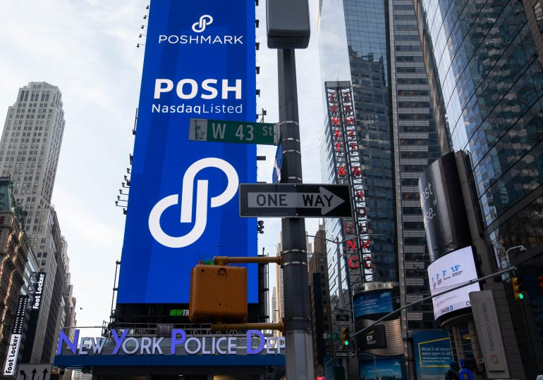 Poshmark sales top estimates in its first quarterly report as a public company, but outlook disappoints; shares fall