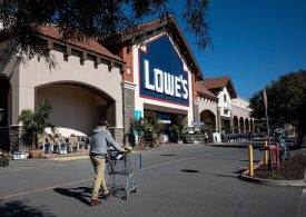 Lowe's earnings beat on robust home improvement spending, but shares fall