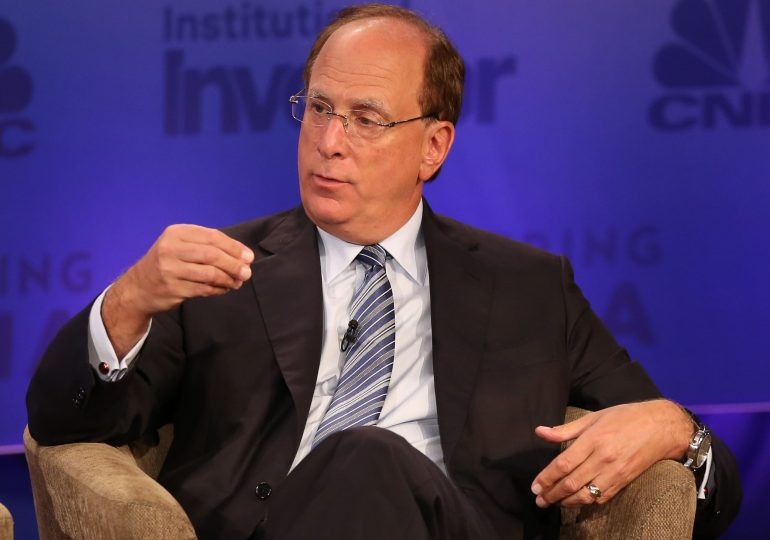 You may need to work longer, ramp up investment risk to afford retirement, BlackRock CEO Fink says