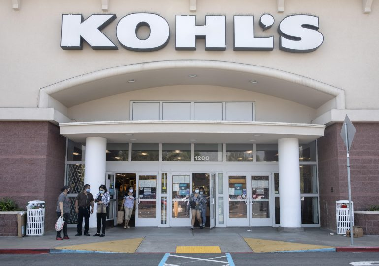 Kohl's shares surge after earnings top estimates, retailer raises forecast as higher foot traffic drives sales