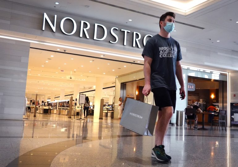 Nordstrom earnings beat, retailer raises forecast, but shares fall as sales still below 2019 levels